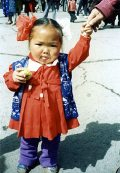 Mongol kislány(fotó: Konkoly-Thege György)
