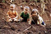 Thaiföldi gyerekek(fotó: Konkoly-Thege György)