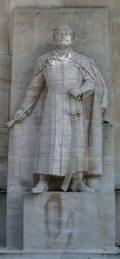 Bocskay István, erdélyi fejedelem szobra - Genf (Svájc) Reformátorok fala (Fotó: Legeza Dénes István)