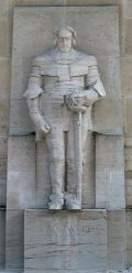 Cromwell, Oliver (1599-1658) államfő szobra - Genf (Svájc) Reformátorok fala (Fotó: Legeza Dénes István)
