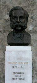 Henry Dunant orvos (1828-1910) a Nemzetközi Vöröskerszt alapítójának mellszobra - Genf (Svájc) (Fotó: Legeza Dénes István)