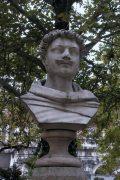 Kisfaludy Károly mellszobra - Budapest, Múzeumkert (Fotó: Legeza Dénes                     István)