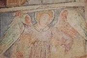 Szent Mihály (freskórészlet) Velemér – templom (fotó: Török Máté)