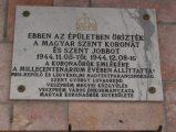 Emléktábla Veszprémben (Fotó: Vimola Ágnes)
