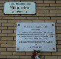 Márai Sándor emléktábla - Budapest, a krisztinavárosi Mikó utca (Fotó: Vimola Ágnes)