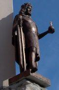 Mátyás király szobra Révkomáromban az Európa Udvarban (fotó:                         Vimola Ágnes)