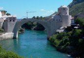 Az újjáépített mostari híd (fotó: Vimola Ágnes)