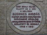 Dugonics András emlékére - Emléktábla Szegeden (fotó: Vimola Ágnes)