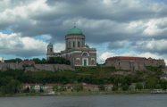 Az Esztergomi Bazilika látképe Párkányból (fotó: Vimola Ágnes)