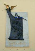 Dombormű Szent László királyról Győrben a Káptalandombon (Lebó Ferenc alkotása) (fotó: Bánkeszi Katalin)