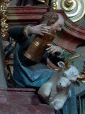 Szent Lukács – szószék részlete a szentendrei Templom téri római katolikus templomban (fotó: Vimola Ágnes)