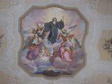 Szent Benedek mennyezetfreskón (fotó: Vimola Ágnes)