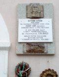 Hatvani István emléktáblája Rimaszombatban (Fotó: Mann Jolán                    )
