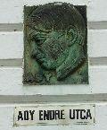 Ady Endre emléktábla Sárváron (fotó: Őszik Antal)
