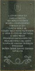 Kanizsai Dorottya emléktáblája Sárváron (fotó: Őszik Antal)