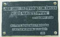 Millenniumi emléktábla Sárváron (fotó: Őszik Antal)