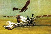 """Svachulay Sándor monoplánja: a """"Kolibri"""" (lent) és az """"Albatrosz"""" (fent) 1912-ből – Országos Széchényi Könyvtár"""