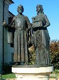 Boldog Gizella és Szent István király szobra Nagymaroson (fotó: Sudár Annamária)